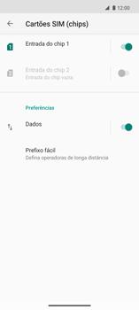 Como ativar e desativar uma rede de dados - Motorola Edge - Passo 5