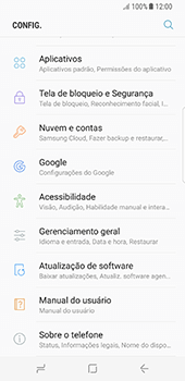 Como encontrar o número de IMEI do seu aparelho - Samsung Galaxy S8 - Passo 3