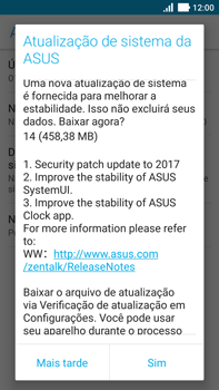 Como atualizar o software do seu aparelho - Asus ZenFone 3 - Passo 7
