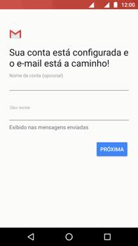 Como configurar seu celular para receber e enviar e-mails - Motorola Moto Z2 Play - Passo 11