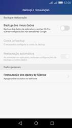 Como restaurar as configurações originais do seu aparelho - Huawei Y6 - Passo 4