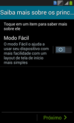 Como configurar pela primeira vez - Samsung Galaxy Core Plus - Passo 14