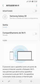 Como usar seu aparelho como um roteador de rede Wi-Fi - Samsung Galaxy S9 - Passo 7