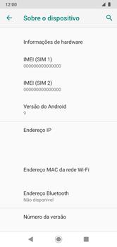 Como encontrar o número de IMEI do seu aparelho - Motorola Moto G7 Power - Passo 5