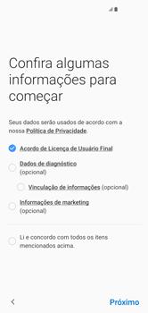 Como configurar pela primeira vez - Samsung Galaxy S10 - Passo 7