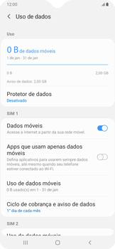 Como definir um aviso e limite de uso de dados - Samsung Galaxy A20 - Passo 5