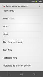 Como configurar a internet do seu aparelho (APN) - Sony Xperia SP - Passo 11