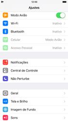 Como ativar e desativar o modo avião no seu aparelho - Apple iPhone 8 - Passo 3