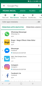 Como baixar aplicativos - Samsung Galaxy J4+ - Passo 5