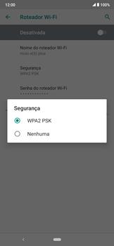 Como usar seu aparelho como um roteador de rede Wi-Fi - Motorola Moto E6 Plus - Passo 9