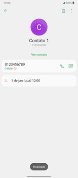 Como bloquear chamadas de um número específico - LG Velvet 5G - Passo 7