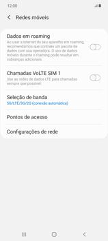Como ativar e desativar o roaming de dados - Samsung Galaxy Note 20 5G - Passo 5