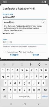 Como usar seu aparelho como um roteador de rede Wi-Fi - Samsung Galaxy A50 - Passo 8