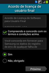 Como configurar pela primeira vez - Samsung Galaxy Young - Passo 5