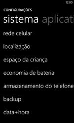 Como ativar e desativar uma rede de dados - Nokia Lumia 1020 - Passo 3
