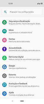 Como encontrar o número de IMEI do seu aparelho - Motorola One Vision - Passo 3