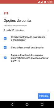 Como configurar seu celular para receber e enviar e-mails - Motorola Moto G6 Plus - Passo 18