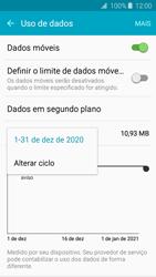 Como definir um aviso e limite de uso de dados - Samsung Galaxy J2 Duos - Passo 5