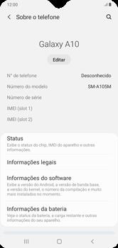 Como encontrar o número de IMEI do seu aparelho - Samsung Galaxy A10 - Passo 4