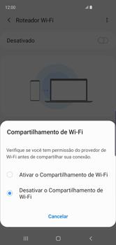Como usar seu aparelho como um roteador de rede Wi-Fi - Samsung Galaxy S10 - Passo 6