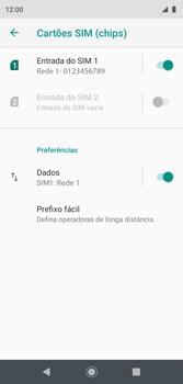 Como ativar e desativar uma rede de dados - Motorola Moto G7 Play - Passo 5