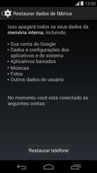 Como restaurar as configurações originais do seu aparelho - Motorola Moto E (1ª Geração) - Passo 6