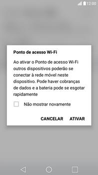 Como usar seu aparelho como um roteador de rede Wi-Fi - LG G5 Stylus - Passo 8