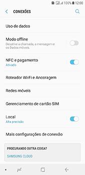 Como ativar e desativar o roaming de dados - Samsung Galaxy J6 - Passo 4