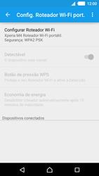 Como usar seu aparelho como um roteador de rede Wi-Fi - Sony Xperia M4 Aqua - Passo 6