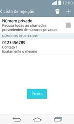 Como bloquear chamadas de um número específico - LG F60 - Passo 11