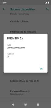 Como encontrar o número de IMEI do seu aparelho - Motorola Moto G7 Play - Passo 8