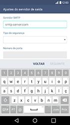 Como configurar seu celular para receber e enviar e-mails - LG K10 - Passo 14