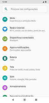 Como configurar uma rede Wi-Fi - Motorola Moto G7 Power - Passo 3