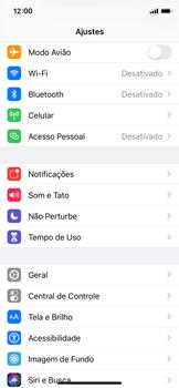 Como selecionar o tipo de rede adequada - Apple iPhone X - Passo 2