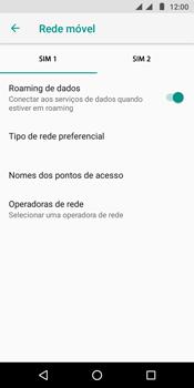 Como ativar e desativar o roaming de dados - Motorola Moto G6 Play - Passo 5