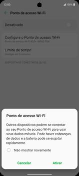 Como usar seu aparelho como um roteador de rede Wi-Fi - LG K62+ - Passo 10