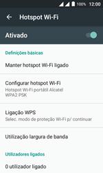 Como usar seu aparelho como um roteador de rede Wi-Fi - Alcatel Pixi 4 - Passo 11