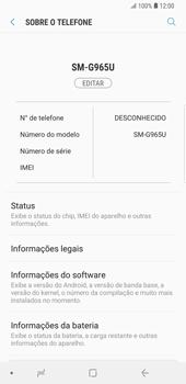 Como encontrar o número de IMEI do seu aparelho - Samsung Galaxy S9 Plus - Passo 4