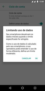 Como definir um aviso e limite de uso de dados - Motorola Moto G6 Plus - Passo 11