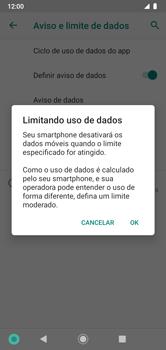 Como definir um aviso e limite de uso de dados - Motorola Moto G7 Power - Passo 12