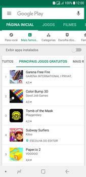 Como baixar aplicativos - Samsung Galaxy J6 - Passo 6