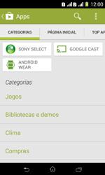 Como baixar aplicativos - Sony Xperia E1 - Passo 6