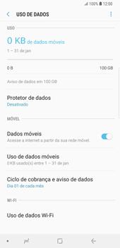 Como ativar e desativar uma rede de dados - Samsung Galaxy S9 Plus - Passo 5