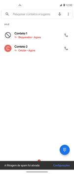 Como bloquear chamadas de um número específico - Motorola Moto G 5G Plus - Passo 9