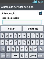 Como configurar seu celular para receber e enviar e-mails - LG Optimus L3 II - Passo 18