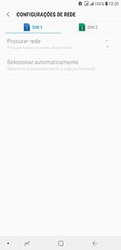 Como selecionar o tipo de rede adequada - Samsung Galaxy J8 - Passo 9