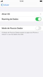 Como ativar e desativar o roaming de dados - Apple iPhone 8 - Passo 5