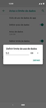 Como definir um aviso e limite de uso de dados - Motorola One Vision - Passo 13