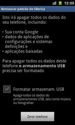 Como restaurar as configurações originais do seu aparelho - Samsung Galaxy S II - Passo 6