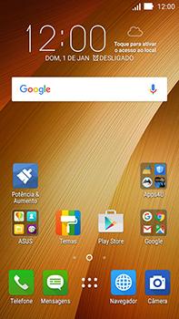 Como restaurar as configurações originais do seu aparelho - Asus ZenFone Go - Passo 1
